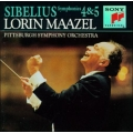 Sibelius - Symphonies No 4 and 5  - Lorin Maazel